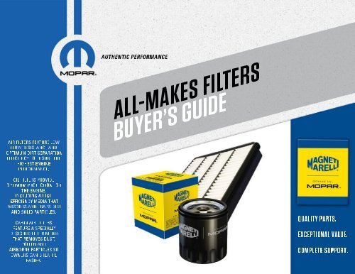 All Makes Filters Buyers Guide pdf - Mopar Repair Connection