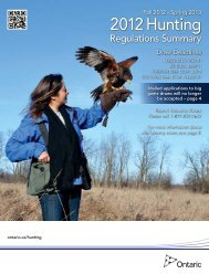 2012 Ontario Hunting Regulations Summary whole - Ministry of ...