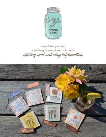 pricing and ordering information - southern fried design barn