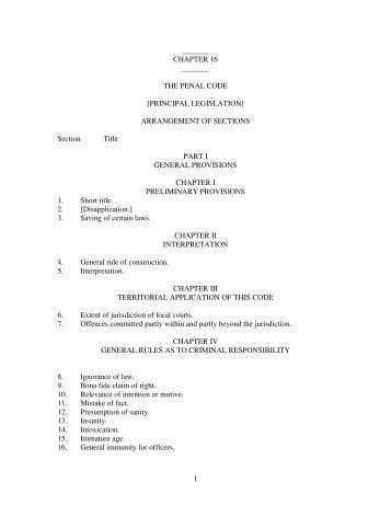 Uganda â Penal Code Act 1950 Ch 120