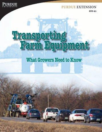Transporting Farm Equipment - Purdue Pesticide Programs - Purdue ...