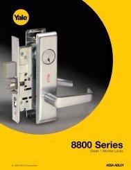 Yale 8000 series Mortise Lock Catalog - Door Hardware