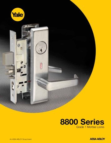 Yale 8000 series Mortise Lock Catalog - Door Hardware