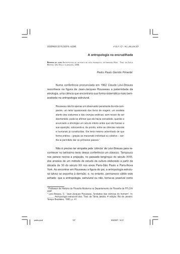 A antropologia na encruzilhada - fflch - USP