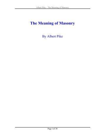 The Meaning of Masonry [pdf]. - Pictou Masons
