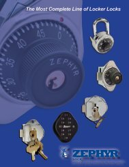 The Most Complete Line of Locker Locks - Zephyr Lock