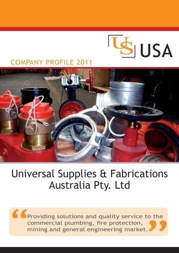 Company profile 2011 - Universal Supplies Australia