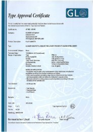 Type Approval Certificate - Klinger AG Egliswil