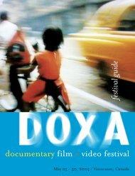 2004 Program Guide - DOXA Documentary Film Festival