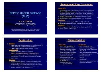 Peptic Ulcer Disease - Diagnosis