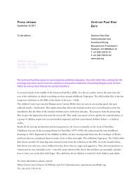 Press release Eiapopeia. The child within Klee - Zentrum Paul Klee