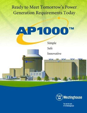 AP1000 Brochure - Westinghouse
