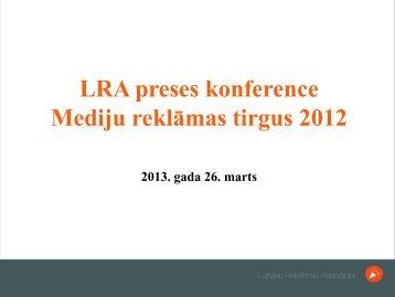 Mediju reklāmas tirgus 2012