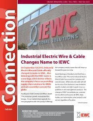 Industrial Electric Wire & Cable Changes Name to IEWC