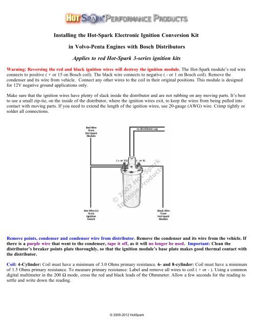 connection may be corrodeinstructions hot spark performance products electronic ignition