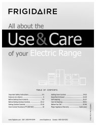 Electric Range - Frigidaire