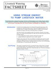 Using Stream Energy to Pump Livestock Water - Ministry of ...