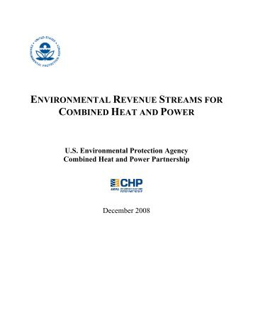 Environmental Revenue Streams for Combined Heat and Power