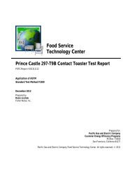 Food Service Technology Center Prince Castle 297-T9B Contact ...