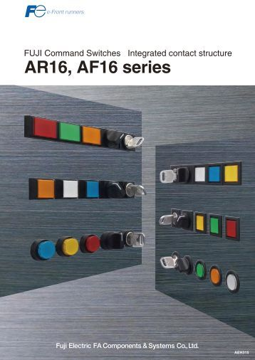 Fuji Command Switches AF16, AF16 series - Fuji Electric America