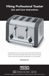 Viking Professional Toaster Use And Care Instructions - Abt