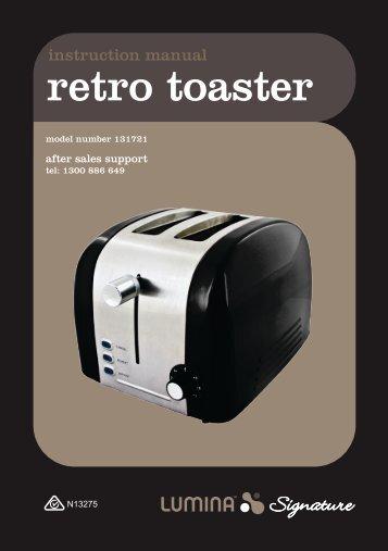 131721 LUMINA SIGNATURE Stainless Steel Retro Toaster (Beige ...