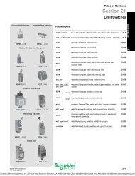 Schneider Electric DIGEST 175 - Limit Switches - Steven Engineering