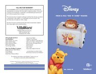"""pooh & pals """"rise 'n' shine"""" toaster full one year warranty - VillaWare"""