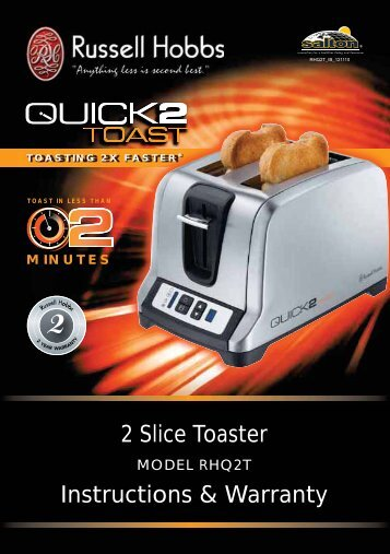 RHQ2T 2 Slice Toaster - Russell Hobbs