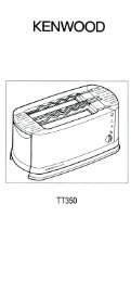 Page 1 Page 2 Know your toaster Your new Kenwood Coolwall ...