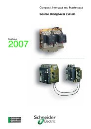 Source changeover system Compact, Interpact ... - Schneider Electric