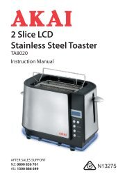2 Slice LCD Stainless Steel Toaster - Tempo (Aust)