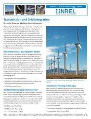 Transmission and Grid Integration: Electricity, Resources ... - NREL