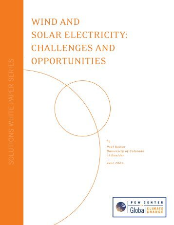 Wind and Solar ElEctricity - Center for Climate and Energy Solutions