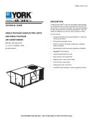 TECHNICAL GUIDE SINGLE PACKAGE GAS/ELECTRIC UNITS ...