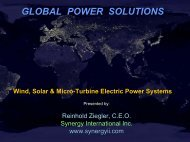 GLOBAL POWER SOLUTIONS - Synergy International Incorporated