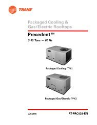 RT-PRC025-EN (04/06) Packaged Cooling and Gas/Electric ... - Trane