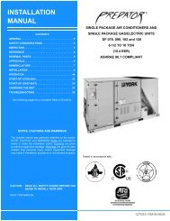 Y-IM-Single Package AC and Single Package Gas/Electric Units ...