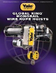 Yale Global King Electric Wire Rope Hoist Brochure - Ergonomic ...