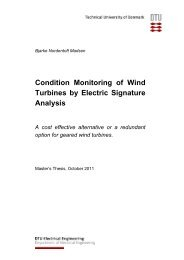 Condition Monitoring of Wind Turbines by Electric Signature Analysis