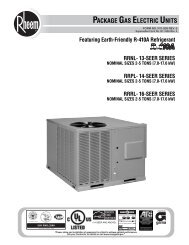 PACKAGE GAS ELECTRIC UNITS