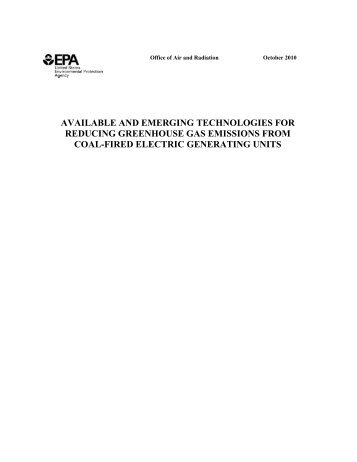 Electric Generating Units - US Environmental Protection Agency
