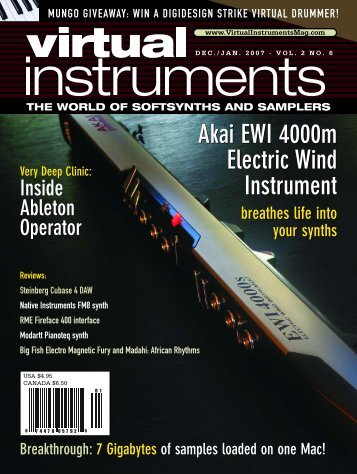 Akai EWI 4000m Electric Wind Instrument Akai EWI 4000m Electric ...