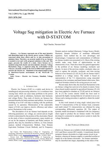 Voltage Sag mitigation in Electric Arc Furnace with - International ...