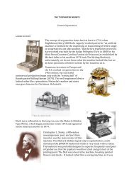 The concept of a typewriter dates back at least to 1714, when ...