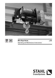 Wire Rope Hoists _ Operating and Maintenance ... - STAHL-POLSKA