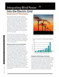 Integrating Wind Power Into the Electric Grid: Perspectives
