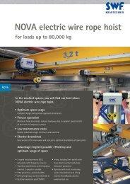 NOVA electric wire rope hoist - SWF Krantechnik GmbH