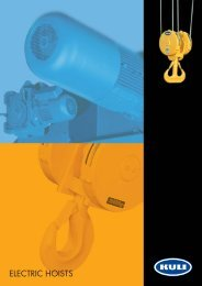 Electric wire rope hoists - BJC Engineering