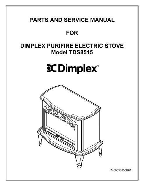 Dimplex Celeste Electric Stove Service Manual